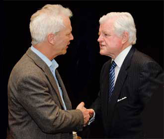 Dan Fisher with Senator Edward Kennedy at the Campaign for Mental Health Reform's Gala Dinner