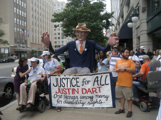 Puppet of the late cross-disability leader, Justin Dart