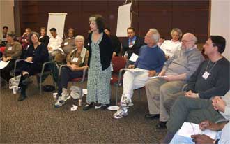 Sally Zinman speaking at the October 26, 2006 Organizational Meeting